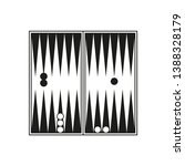backgammon icon. simple vector... | Shutterstock .eps vector #1388328179