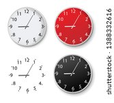 clock set isolated isolated... | Shutterstock .eps vector #1388332616