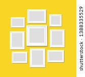 picture frame isolated yellow... | Shutterstock . vector #1388335529
