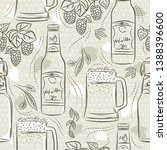 beige seamless patterns with... | Shutterstock .eps vector #1388396600