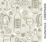 beige seamless patterns with... | Shutterstock .eps vector #1388396606