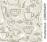 beige seamless patterns with... | Shutterstock .eps vector #1388396609