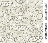 beige seamless patterns with... | Shutterstock .eps vector #1388396630
