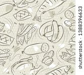beige seamless patterns with... | Shutterstock .eps vector #1388396633