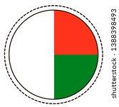 madagascar flag sticker on...   Shutterstock .eps vector #1388398493
