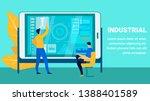 industrial production report... | Shutterstock .eps vector #1388401589