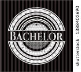 bachelor silvery badge or... | Shutterstock .eps vector #1388402690