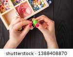 jewelry making and beading... | Shutterstock . vector #1388408870
