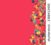rhombus backdrop minimal... | Shutterstock .eps vector #1388413400