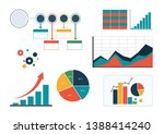 set of colourful business... | Shutterstock .eps vector #1388414240