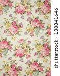 floral pattern wallpaper  ... | Shutterstock . vector #138841646