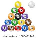 billiard balls triangle...   Shutterstock .eps vector #1388421443