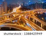 shanghai yanan road overpass... | Shutterstock . vector #1388425949