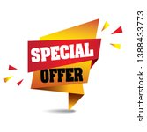 special offer banner vector... | Shutterstock .eps vector #1388433773