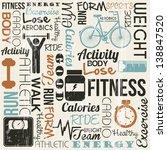 grunge fitness background ... | Shutterstock .eps vector #138847520