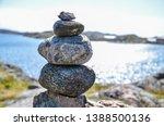 pile of stones  creative work ... | Shutterstock . vector #1388500136