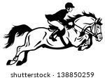 Horse Rider  Black And White...