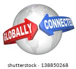 the words globally connected on ... | Shutterstock . vector #138850268