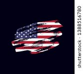 grunge textured usa flag.... | Shutterstock .eps vector #1388516780