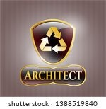 gold badge with recycle icon...   Shutterstock .eps vector #1388519840