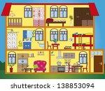 illustration of interior of... | Shutterstock . vector #138853094