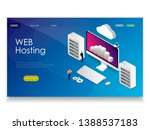 web hosting concept with... | Shutterstock .eps vector #1388537183