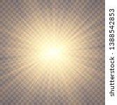 sunlight on a transparent... | Shutterstock .eps vector #1388542853