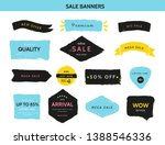 grunge sale badge collection.... | Shutterstock .eps vector #1388546336