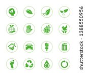eco friendly green icon designs | Shutterstock .eps vector #1388550956