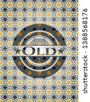 old arabesque emblem background.... | Shutterstock .eps vector #1388568176