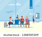 waiting room at the airport... | Shutterstock .eps vector #1388585309