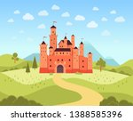 natural landscape with... | Shutterstock .eps vector #1388585396