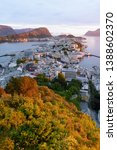 alesund is a port and tourist... | Shutterstock . vector #1388602370