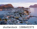 alesund is a port and tourist... | Shutterstock . vector #1388602373