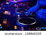dj mixes the track in the... | Shutterstock . vector #138860339