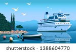 A Cruise Liner Off The Coast Of ...