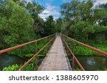bridge over small river in the... | Shutterstock . vector #1388605970