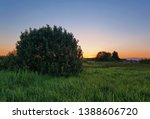 landscape with coloful sunset... | Shutterstock . vector #1388606720