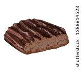 prepared steak icon. cartoon of ... | Shutterstock .eps vector #1388614523