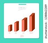 graph bar on white card. eps10 | Shutterstock .eps vector #138862289