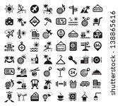 elegant travel icons set...   Shutterstock .eps vector #138865616