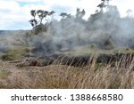 sulfur dioxide rising from a... | Shutterstock . vector #1388668580