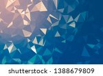 abstract low poly background ... | Shutterstock . vector #1388679809