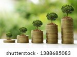 small trees on a pile of gold...   Shutterstock . vector #1388685083