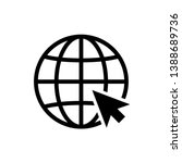 internet   globe icon vector... | Shutterstock .eps vector #1388689736