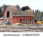 An Old Falling Down Barn In...