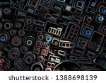 various pipes in the steelworks.   Shutterstock . vector #1388698139
