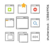 web browser icons isolated on... | Shutterstock .eps vector #138869906