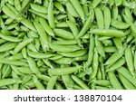 freshly harvested green peas on ...   Shutterstock . vector #138870104