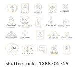 premium floral logo templates... | Shutterstock .eps vector #1388705759